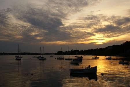 Sun Set Stockfoto