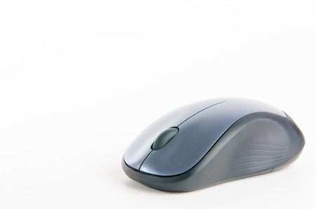scrollwheel: Computer Mouse Isolated on White Background