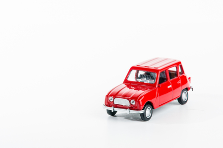 Retro car isolated in a white background Stock Photo