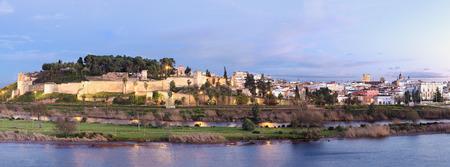 badajoz: Panoramic Ancient arabic fortress, Badajoz, Extremadura, Spain