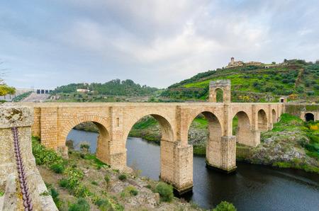 extremadura: Roman bridge over the Tajo river in Alcantara, Caceres province,Extremadura, Spain