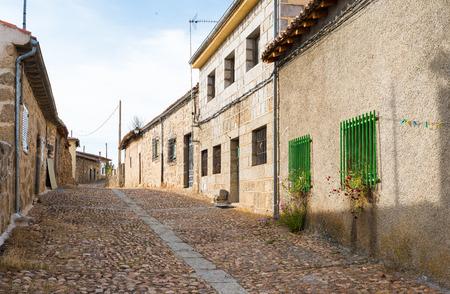 castilla y leon: Street of Bonilla de la Sierra, Castilla y Leon, Spain Stock Photo