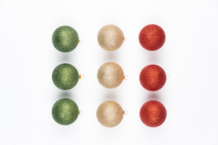 jelly beans: Christmas balls isolated on white background.