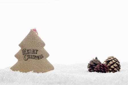 Christmas Decoration Handmade Tree With Happy Christmas Writing