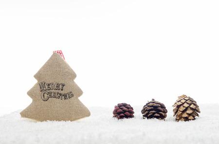 albero nocciolo: Christmas Decoration Handmade Tree With Happy Christmas Writing