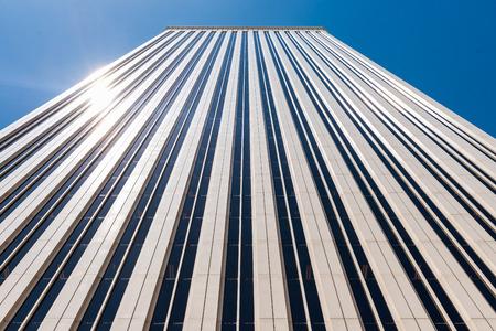 Facade of a skyscraper. Torre Picasso, Madrid Editorial