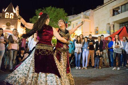 historical events: ELVAS, PORTUGAL. JUNEL 30, 2017: Belly dancers in the medieval festival in Elvas. Editorial