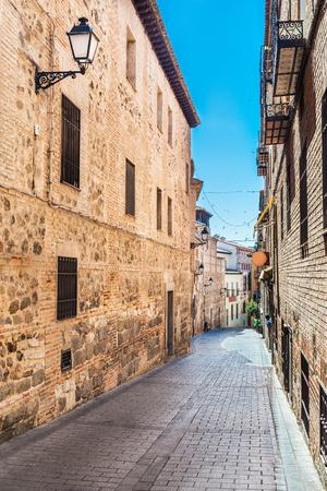 Streets from medieval city of Toledo, Castilla la Mancha, Spain Editorial