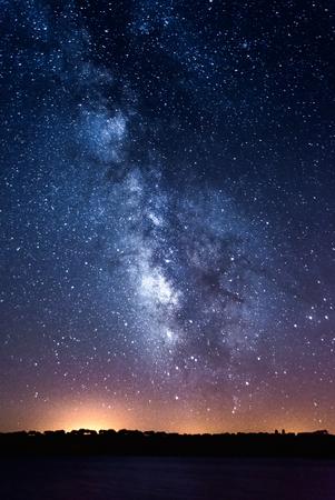 Melkweg over Alqueva Lake, Caminho, Portugal