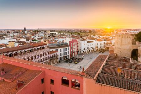 파노라마보기 Sunajate에 Badajoz의 도시 스톡 콘텐츠