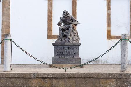 Statue of Francisco de zurbaran in llerena, Extremadura, Spain Stock Photo