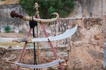 Old arabic swords in Almossassa, Badajoz.