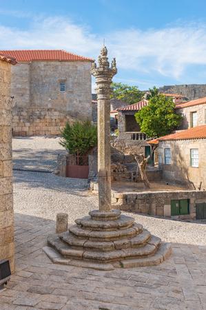 law of portugal: Pelourinho in medieval village in the castle of Sortelha.