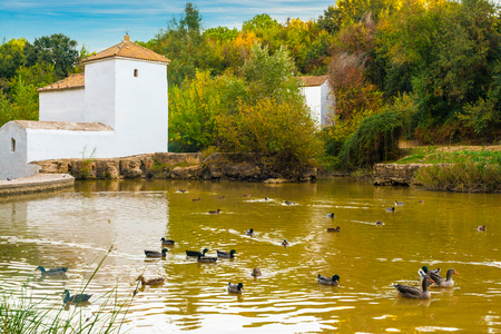 Watermill in Alcala de Guadaira, Seville, Spain Фото со стока