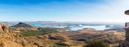 serene valley seen from the castle of puebla de alcocer