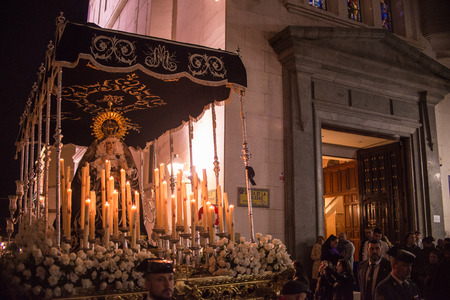 BADAJOZ, SPAIN - MARCH 268 2018: Holy Mary of the greatest pain in Holy Week