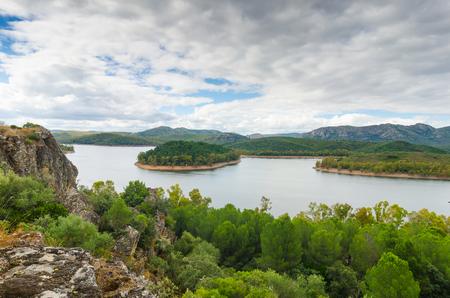 Garcia Sola reservoir or Puerto Pena In Badajoz, Spain
