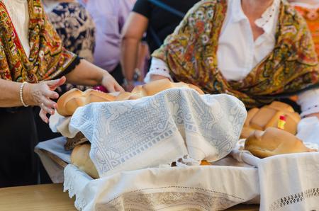 Santiago de Alcantara, SPAIN - 18 AUGUST 2018:Once a year the traditional festival