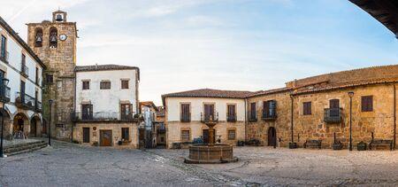 Panoramic Plaza Mayor in San Martin de Trevejo