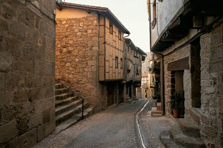 Old street of San Martin de Trevejo, Caceres, Extremadura, Spain.