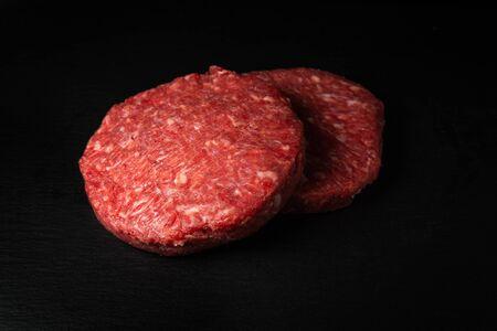 Delicious Home HandMade Raw Minced Beef steak burgers