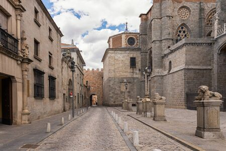 Avilas Cathedral square, Spain