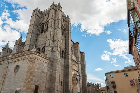 gothic and romanesque cathedral in Avila. Castilla y Leon, Spain