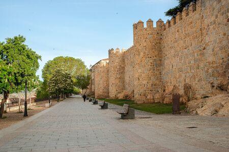 promenade of rastro in Avila, Castilla y Leon, Spain