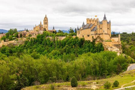 Alcazar and Cathedral of Segovia, Castilla y Leon, Spain