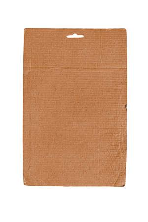 Single cardboard sheet isolated on white Stock Photo - 9871443