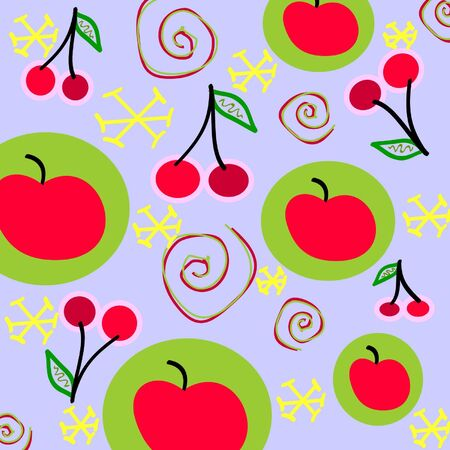 Big fruit vector background Vector