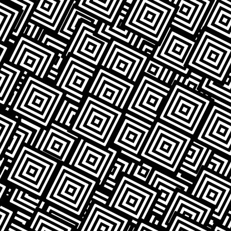 Seamless background from black and white squares Stock Vector - 9934768
