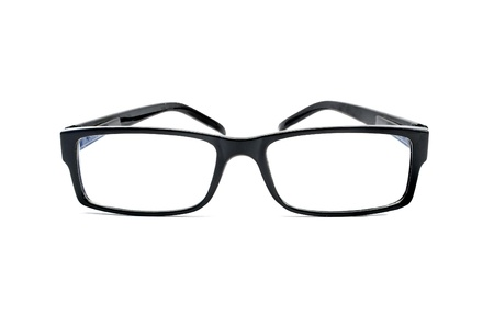 reading glasses: Eyeglasses isolated on white.