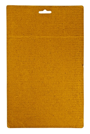 Empty sheet of cardboard, isolated on white. photo