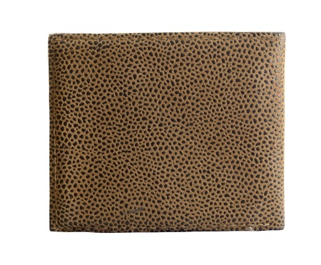 Textured leather wallet, isolated on white. Stock Photo - 11059125