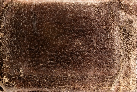 Solid background of brown worn leather.