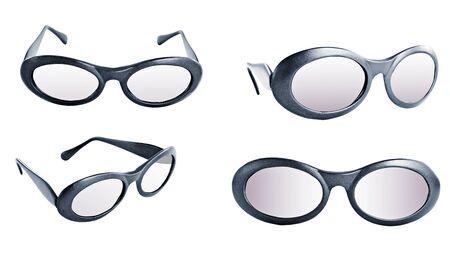 Set of modern eyeglasses, isolated on white. Stock Photo - 11277472