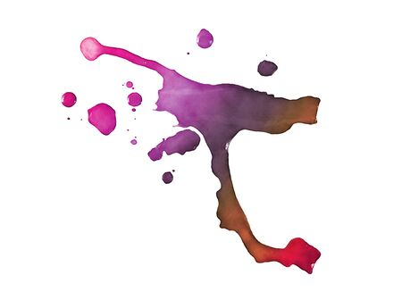isoalated: Colorful paint stain, isoalated on white.
