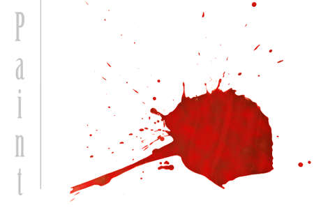 Red paint stain, isolated on white. Stock Photo - 11474929