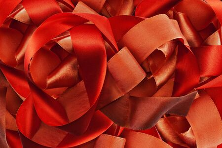 Abstract solid background of red ribbon. photo