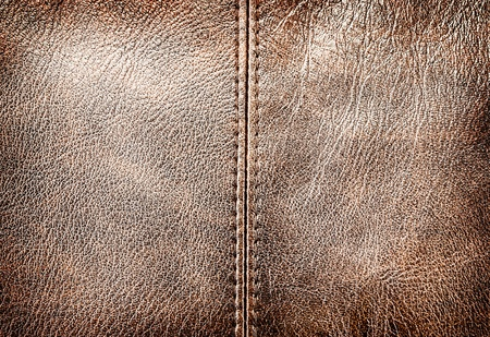 Closeup of leather texture with seam for art design. Stock Photo - 17639740