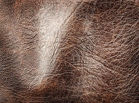 Closeup of crumpled leather texture for art design. Stock Photo - 17639742