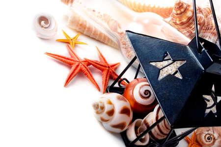 Few marine items over white background  photo