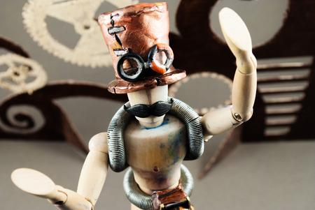 dummy: Classic wooden dummy in steampunk world.
