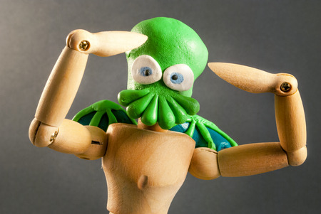 hypnotise: Classic wooden dummy series. Cthulhu cosplay.