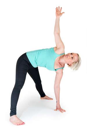 Yoga woman green position_50