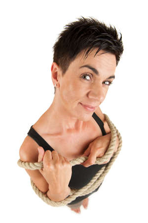 predicament: Woman with rope