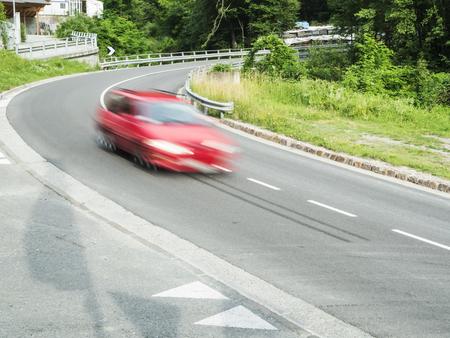 cornering: fast car in the curve