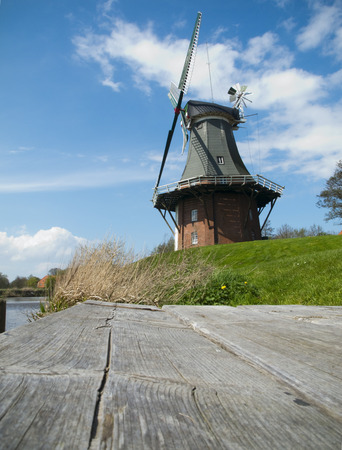 landing stage: windmill by the landing stage