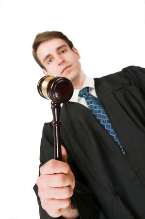 judge slanting Stock Photo